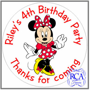 24 x Personalised Kids Childrens Birthday Party 'Thanks for coming' stickers Min