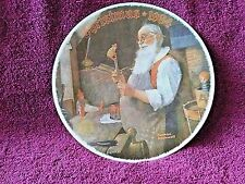 """Norman Rockwell Society of America 1984 """"Santa In His Workshop"""" Christmas Plate"""