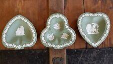 Wedgwood Jasperware Sage Green Trinket Dishes set of three
