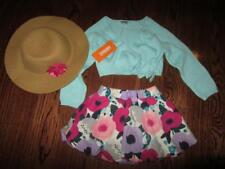 NWT GYMBOREE Toddler Girls 3 piece Hat Floral Skirt Sweater outfit 2 2T NEW $83