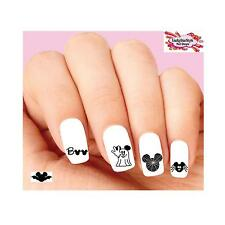 Waterslide Nail Decals Art Set of 20 - Mickey Mouse Halloween Silhouettes
