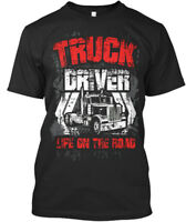Truck Driver Life On The Road - Premium Tee T-Shirt