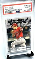 2017 Topps Memorable Moments Angles MIKE TROUT CARD PSA 10 GEM MINT/ POP 15!!!