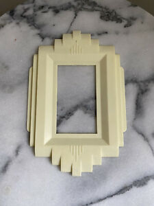 Vintage Light Switch Plate Art Deco Ivory GITS Cover Wall Plate Single