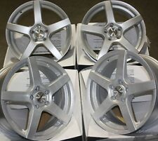 "ALLOY WHEELS X 4 15"" SILVER PACE FITS 5X100 AUDI A1 A3 VW BORA POLO GOLF VENTO"