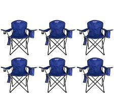 6-Pack Coleman Camping - Lawn Chairs With Built-In Cooler, Blue | 6 x 2000020266