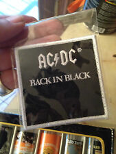 "AC-DC---""BACK IN BLACK""----PATCH ---NEW !"
