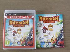 PLAYSTATION 3 PS3  RAYMAN ORIGINS  COMPLET EN FRANCAIS ,