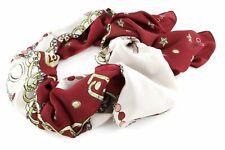 LIU JO Chain Scarf / Shawl Tuch Accessoire Lampone Rot Gold Neu