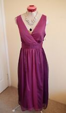 CAPTURE Rose Pink Purple DRESS Size 14 BNWT NEW Long Cocktail Party Dinner Eve