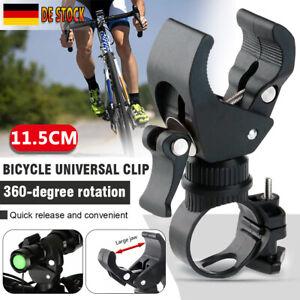 360° Drehung Fahrrad MTB Lenker Licht Halterung Taschenlampe Lampenhalter Klemme
