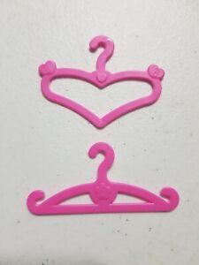 10x Pink Barbie Doll Dress Clothes Coat Hangers x 10 Bundle Lot