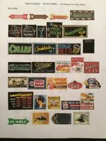 gas and oil decals 1/18  1/24  1/43  1/32  1/64  scale diorama