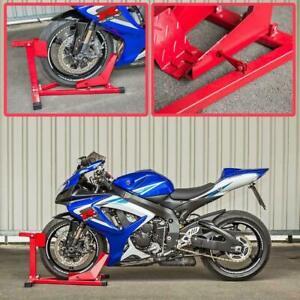 "NEW Motorcycle Motorbike FRONT WHEEL CHOCK 15-19"" Wheels STAND Paddock Garage"