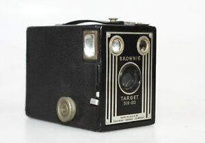 Vintage Kodak Brownie Target Six-20 Art Deco Box Camera