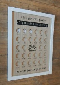 MY WEIGHT LOSS JOURNEY Wood effect Motivation sign Pounds for Pounds UK SELLER