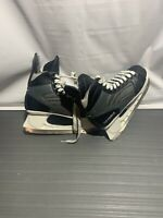 American Ice Force Black Leather Lace Up Hockey Skates Men's Size 9
