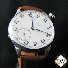 Serviced Vintage ZENITH DRIVERS Pilot Type 20 Antique WWI Officers Large Watch