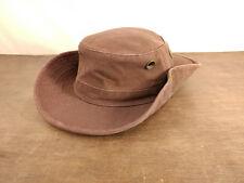 Vtg Tilley Endurable Burgundy Hat Side Snap Up w/ Orig Brag Tags Canada 7 3/8