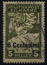 Gestempelte österreichisch-ungarische Feldpost (bis 1945) als Einzelmarke