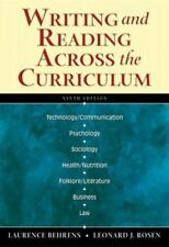 WRITING AND READING ACROSS CURRICULUM 9th Ed. By Leonard Rosen **BRAND NEW**