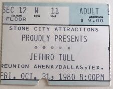 Jethro Tull - Original Concert Ticket Stub, 1980 Dallas