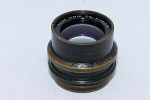 "Goerz Dagor 10 3/4"" (275mm) f6.8 large format lens in barrel. Covers 8x10""."