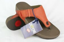 0a900a726 New Fitflop Men s Trakk Leather Flip Flop Comfort Sandals 11m Tan Brown
