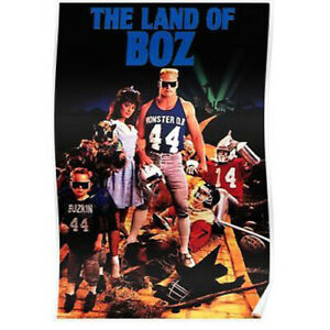 Vintage Brian Bosworth Land of Boz Costacos Poster 1988 NFL Football Sealed