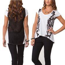 Metal Mulisha Ladies Baroque Top Size L White