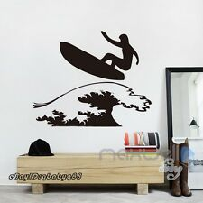 Surfer surfboard Wall sticker Vinyl Decals home kids nursery room Art mural