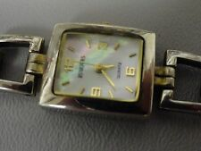 "Rumours ladies watch, Mother of Pearl face 6 1/4"" band, square 3/4"" wide Sharp"