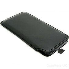 NEW PREMIUM STYLISH BLACK LEATHER CASE / POUCH / COVER / SKIN APPLE iPhone 5 5G