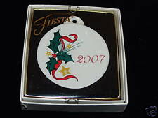 Fiesta (New) Holly Holiday Ornament NIB 1st Q 2007 NIB