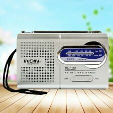 AM/FM Radio Slim Portable Mini Antenna Receiver Telescopic Pocket Size