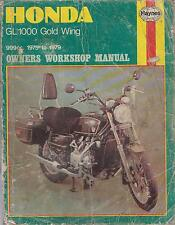 HONDA GL1000 GOLD WING ( 1975 - 1979 ) OWNERS WORKSHOP MANUAL