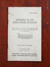 Kodak Ltd 1941 Supplement To 1939 Catalog/cks/206413