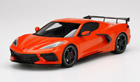 2020 Chevy Corvette C8 High Wing Sebring Orange 1:18 Pre-Order Top Speed MIB