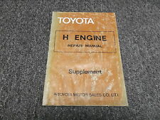 1979 Toyota Land Cruiser HJ45 H Diesel Engine Service Repair Manual Supplement
