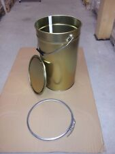 Hobbock Gold Tonne Metallbehälter Blechfass Blecheimer Eimer Aufbewahrung 30L