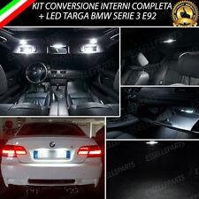 KIT LED INTERNI COMPLETO BMW SERIE 3 E92 + LUCI TARGA LED CANBUS BIANCO 6000K