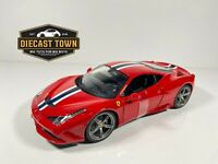 Maisto 1:18 Scale Special Edition Diecast Model Car - Ferrari 458 Speciale Red