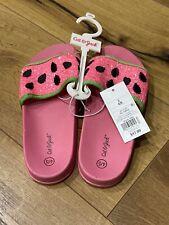 Girls' Embellished Watermelon Pool Slide Glitter Sandals - Cat & Jack Pink 4/5 L