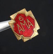 VINTAGE AMERICAN MOTORCYCLE ASSOCIATION - AMA CLUB LAPEL PIN ~ 12 mm