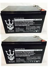 2 Pack - 12V 12Ah F2 UPS Battery Replaces Gruber Power GPS12-12