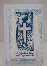 Glückwunschkarte zur Kommunion für Jungen Taufe Konformation 3d Handarbeit