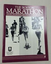 UNREAD MINT 1982 BOSTON MARATHON RACER'S RECORDBOOK OFFICIAL RESULTS SALAZAR