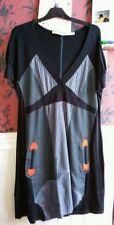 Asymmetric Hem Striped Casual Plus Size Dresses for Women