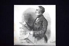 Sir Charles Wood presenta il budget alla Camera dei Comuni Incisione del 1851