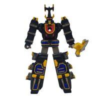"Bandai 2002 Mighty Morphin Black Power Ranger Action Figure Toy 6.5"""